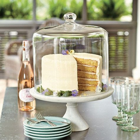Southern Living Marble Cake Plate with 3 Layer Cake Dome --- Ballard Designs
