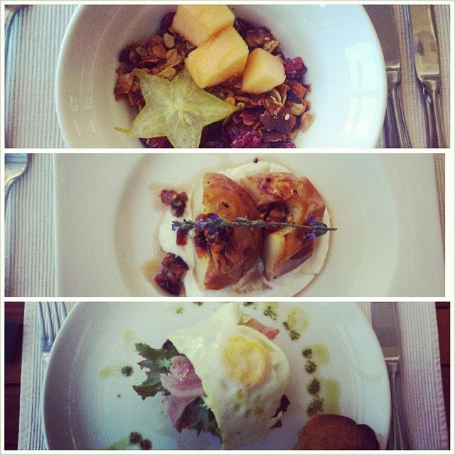 Lauren Fowler shared again - http://instagram.com/10and5 - Day 2 of awesome breakfast at @Schoone Oordt Country House muesli & fruit, baked apple and mushroom stack! #10and5takeover #swellendamFollowing schooneoordt, foodpornza, vintageloverct and instavagabond Breakfasts @Schoone Oordt Country House must be in my top 20 list!