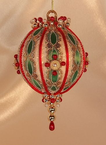 Free Beaded Victorian Ornaments Patterns | Christmas Royale Handcrafted Beaded Victorian Christmas Ornament