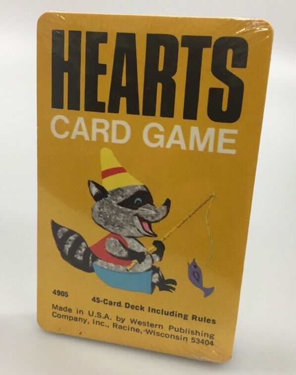 Vintage HEARTS Card Game by Western Publishing Co. Complete Burger Chef NOS Seal #WesternPublishingCo