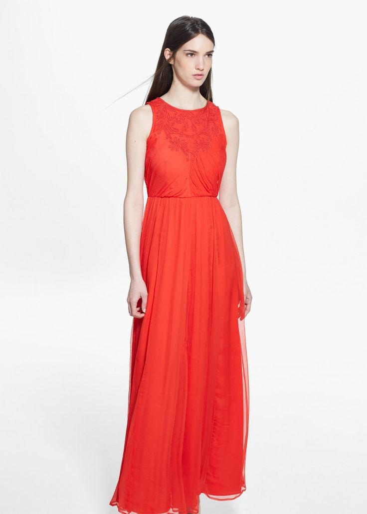 Pleated gown | MANGO