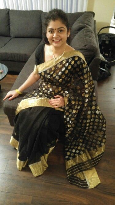 Our happy customer in our Chanderi from Canada