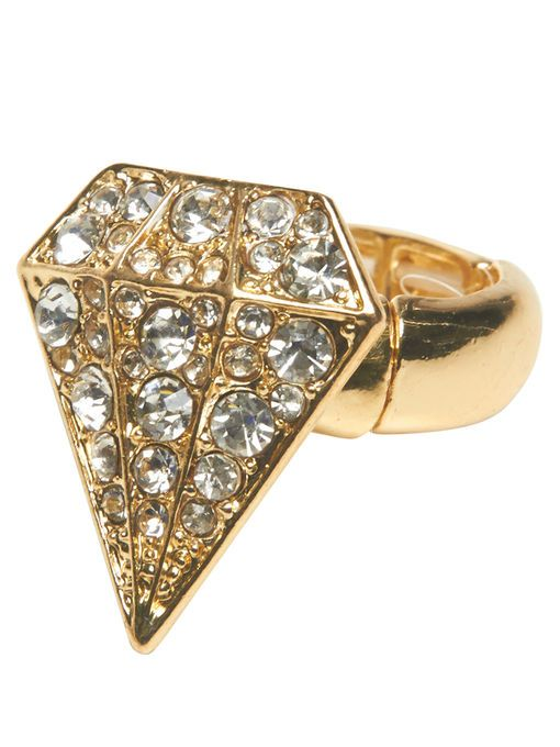 Diamond-Shaped Stretch Ring