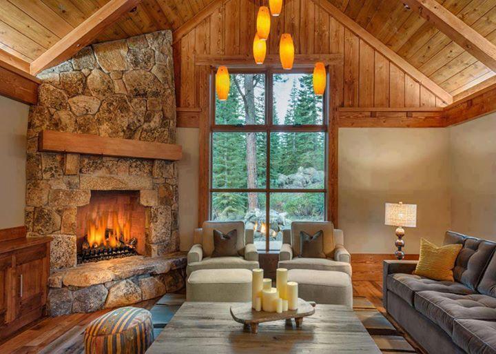 interiores de cabañas de madera , Buscar con Google