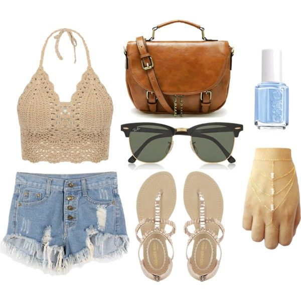 indie by i-e-schneider on Polyvore featuring NYLO, Ray-Ban and Essie
