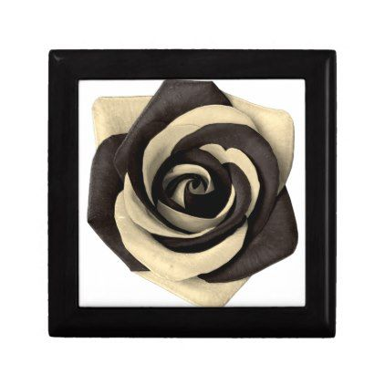Rose Black Gift Box - black and white gifts unique special b&w style