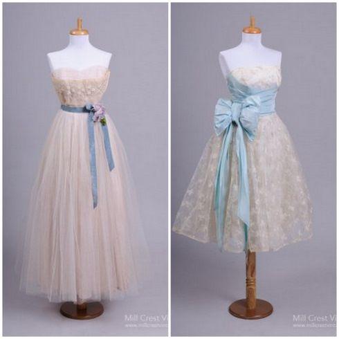 Винтажные свадебные платья на фото