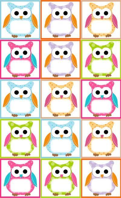 Free Owl Label Templates