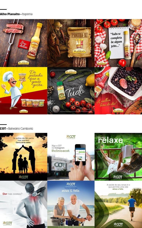 Criação de Posts para mídias onlines (Instagram & Facebook) para agência Zion Marketing de Balneário Camboriú.