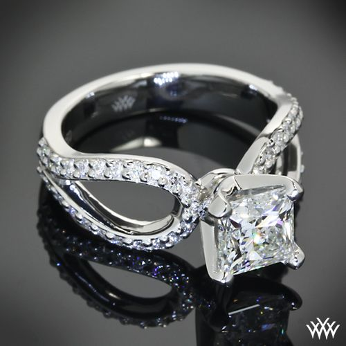 """princess cut infinity wedding ring 
