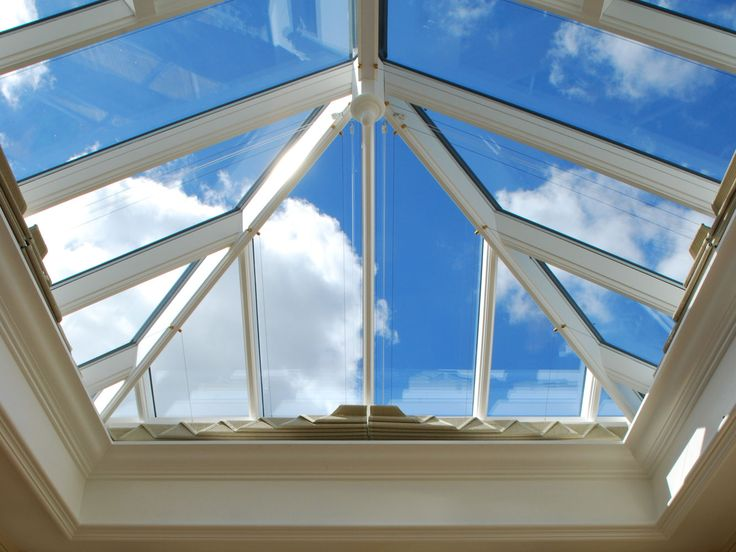 A cornice detail positioned inside the fascia of the aperture of a roof lantern can hide blinds or lighting. & 12 best roof lanterns images on Pinterest | Roof lantern Lanterns ... memphite.com