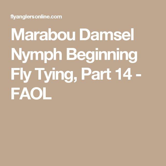 Marabou Damsel Nymph Beginning Fly Tying, Part 14 - FAOL