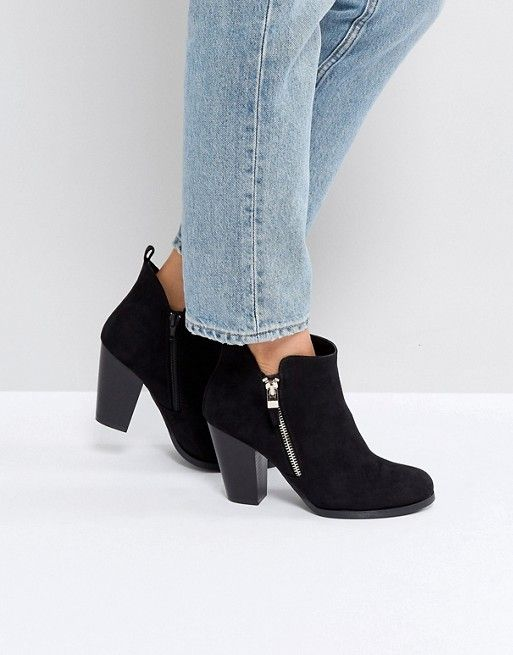 Discover Fashion Online Black Heeled Ankle Boots 62811e98d01