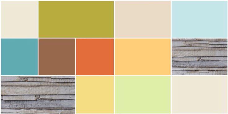 Comparación de paletas de colores claros y oscuros