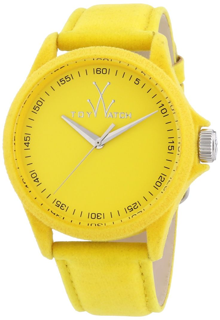 ToyWatch Women's PE07YL Sartorial Only Time Yellow Velvet Watch. Water resistant to 99 feet (30 M): withstands rain and splashes of water, but not showering or submersion.