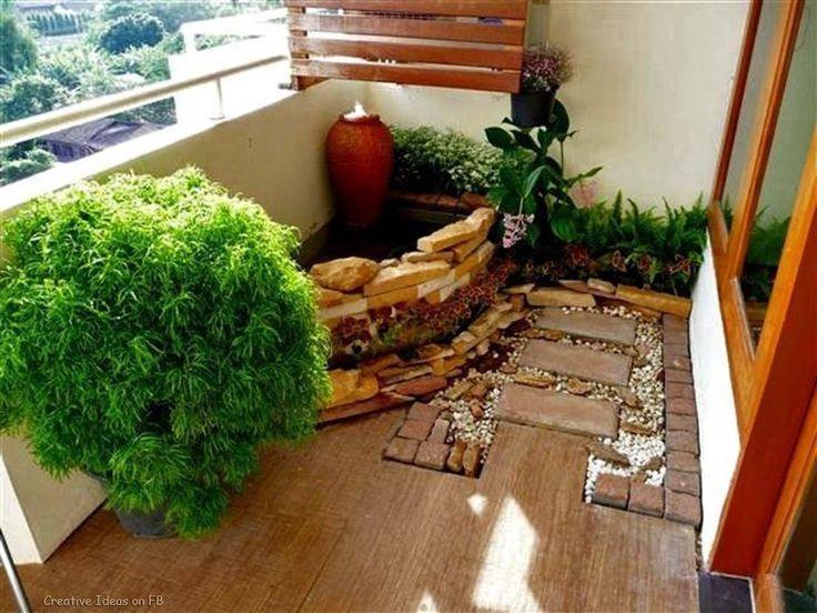 58 best balcones y jardinería images on pinterest | balcony ideas ... - Condo Patio Garden Ideas