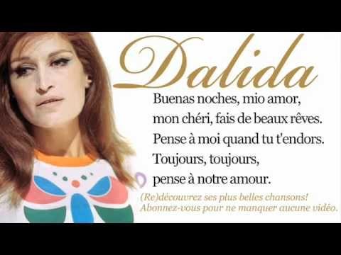 Dalida - Buenas noches mi amor - Paroles (Lyrics) - YouTube