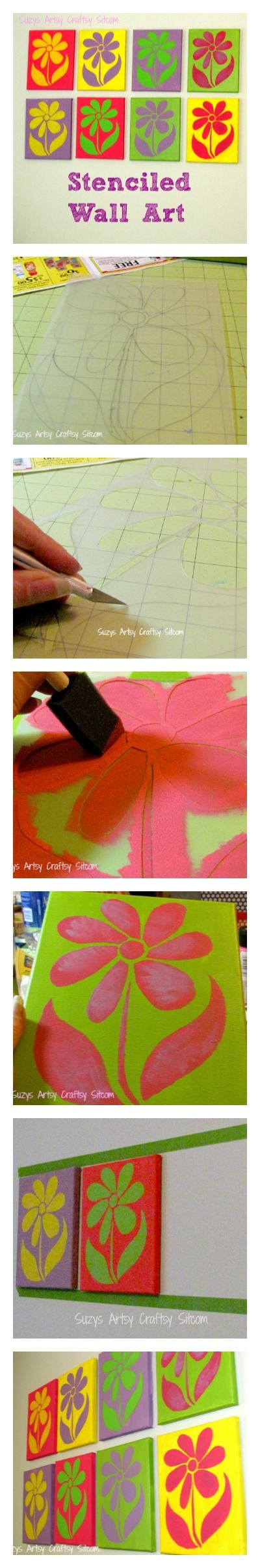 DIY Stenciled Wall Art- learn to make your own stencils from Suzys Sitcom!
