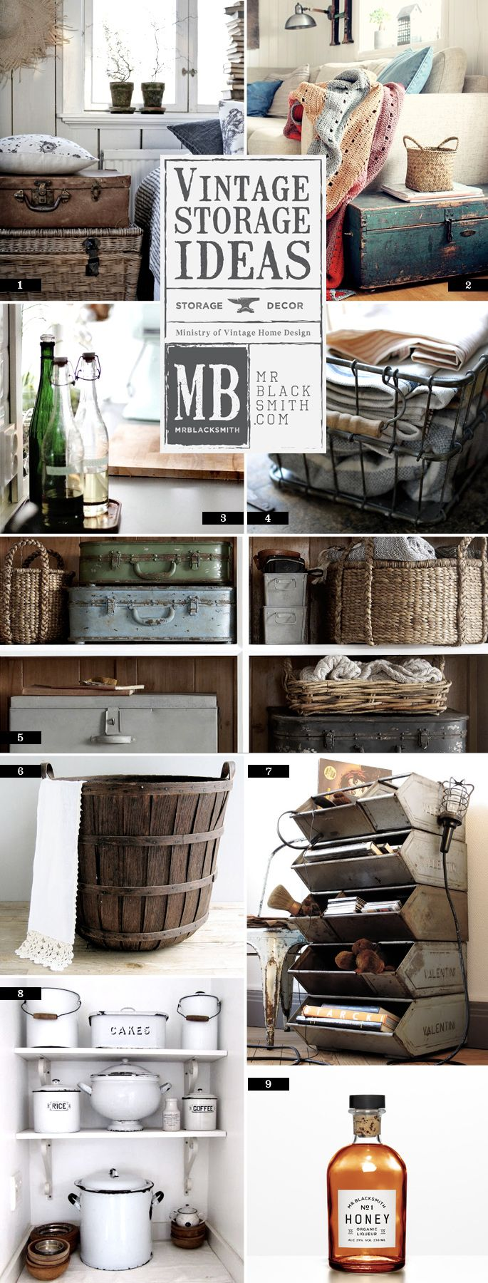 The 5 types of vintage storage and organization ideas