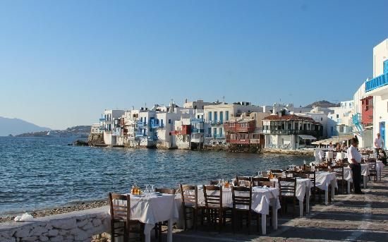 Little Venice in mykonos town looks amazing ! Bars, restaurants , night life and shopping ... this could be a fab day outing or evening out dining !