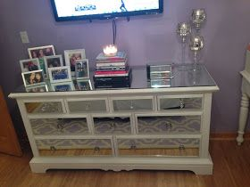 The Glam Vice: DIY Mirrored Dresser