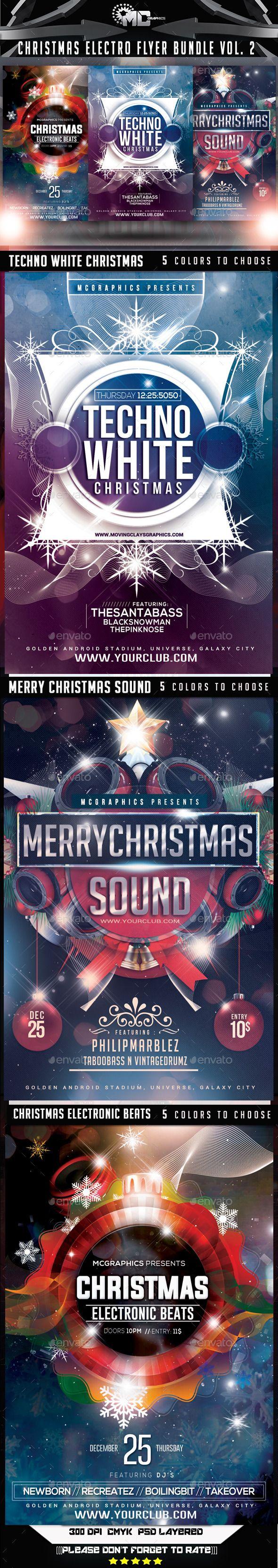 Christmas Electro Flyer Bundle Template PSD #design #xmas Download: http://graphicriver.net/item/christmas-electro-flyer-bundle-vol-2/9617207?ref=ksioks