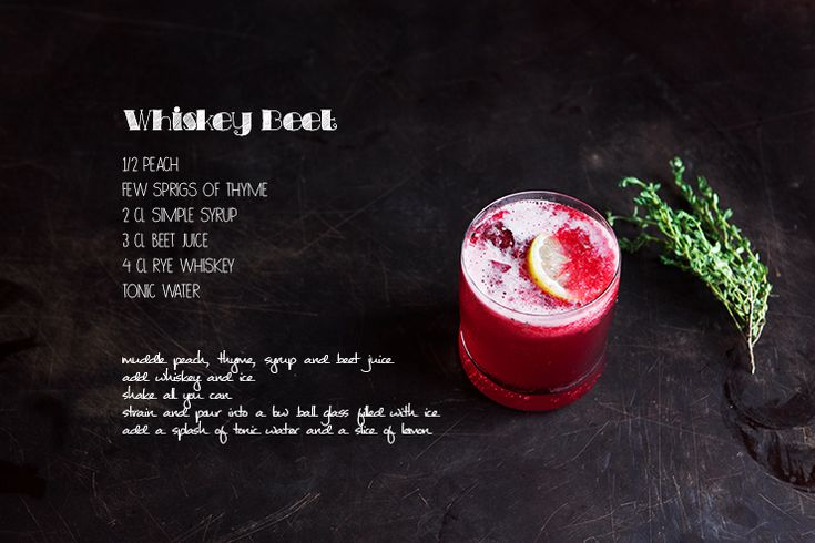 Whiskey Beet Cocktail