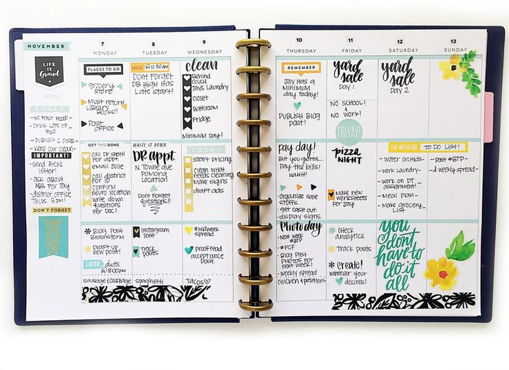 two BIG Happy Planners™- one #beforethepen, prepped for December / one #afterthepen & fully functional — me & my BIG ideas
