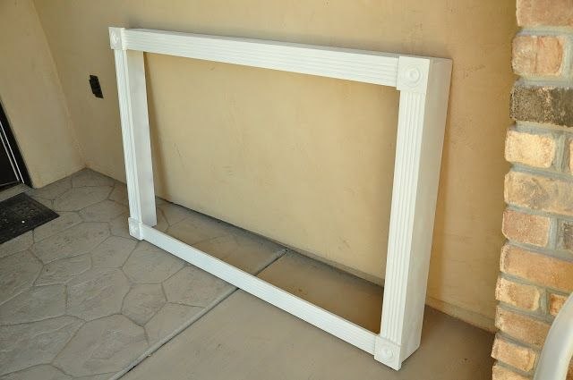 Cover up ugly LCD TV brackets – All Things Thrifty