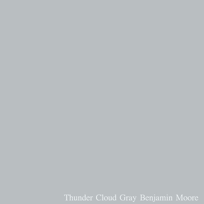 Thunder Cloud Gray Benjamin Moore. If Deep Silver is a little too dark but you love the color, take a look at Thunder Cloud Gray from Benjamin Moore, which is one shade lighter than Deep Silver.