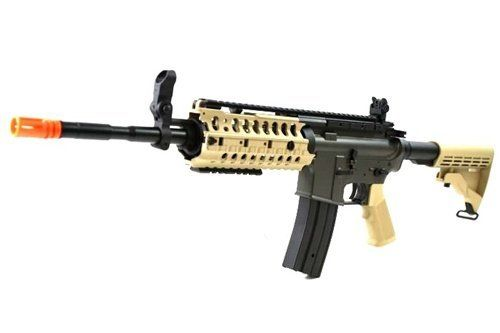 """JG Airsoft M4 S-System Full Metal Gearbox Desert Tan AEG Rifle w/ Integrated RIS and High Performance Tight Bore Barrel - Newest Enhanced Model by JG. $146.00. The JG M4 S-System is one of the highest-rated AEGs we've EVER carried here at LA Wings Inc, and for good reason. It is the quintessential """"Player's AEG"""" - it comes with everything you need and nothing you don't. For the all-new enhanced production run model, JG has done the impossible. They've re-worked and imp..."""