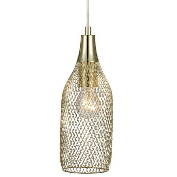Druciana LAMPA wisząca GRID 105973 Markslojd metalowa OPRAWA zwis z wtyczką mosiądz