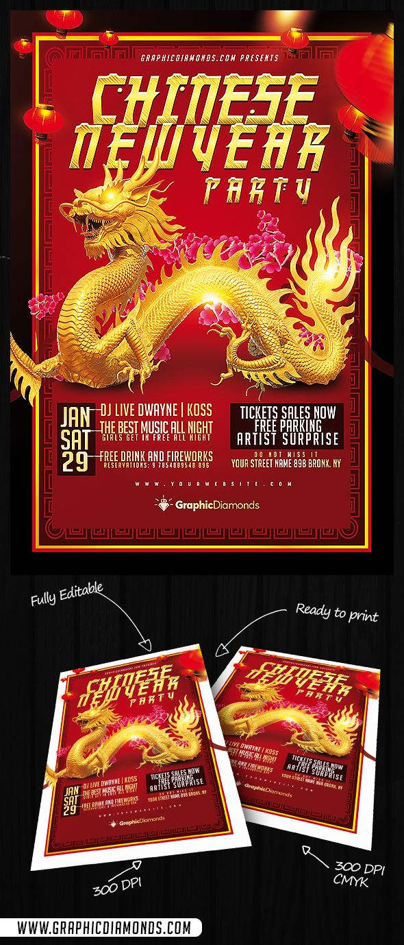 Poster design psd - Chinese New Year Flyer Template Psd Templatesflyer Templatechinese New Yearsposter Designsflyers