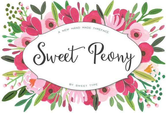 Sweet Peony by Sweet Type on Creative Market