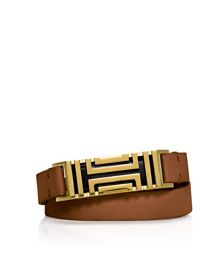 Bark/aged Gold Tory Burch Tory Burch For Fitbit Fret Double-wrap Bracelet