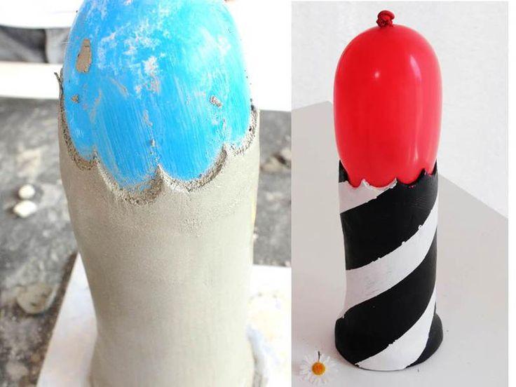 knetbeton kann man auf ballons auftragen und dann daraus. Black Bedroom Furniture Sets. Home Design Ideas