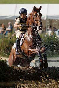 Two of the toughest athletes in the world (Pippa Funnell is the only rider in history to win the eventing grand slam!)