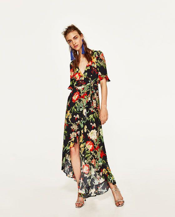 ZARA - WOMAN - LONG FLORAL PRINT DRESS