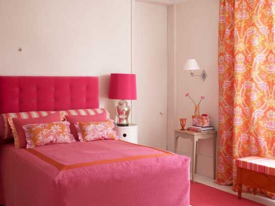 192 best orange and pink rooms images on pinterest homes for Pink and orange bathroom ideas