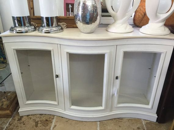 Elegant and functional small sideboard. Beautiful curves, Vintage cabinet  with new white lacquer finish - 23 Best Narrow Buffet Images On Pinterest Buffet, Narrow