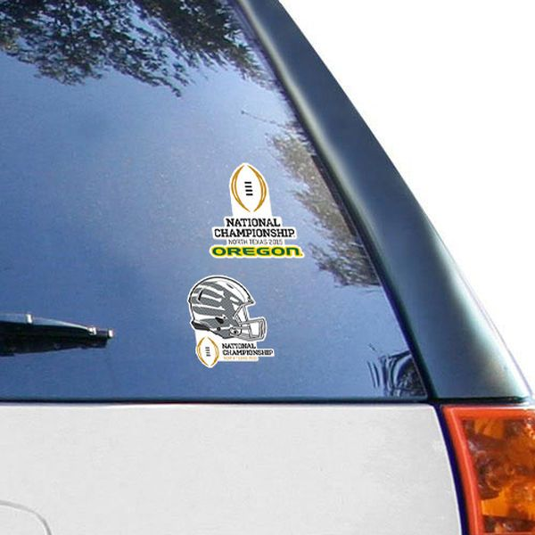Oregon Ducks WinCraft 2015 College Football Playoff National Championship Bound Two-Pack Perfect Cut Decals - $6.99