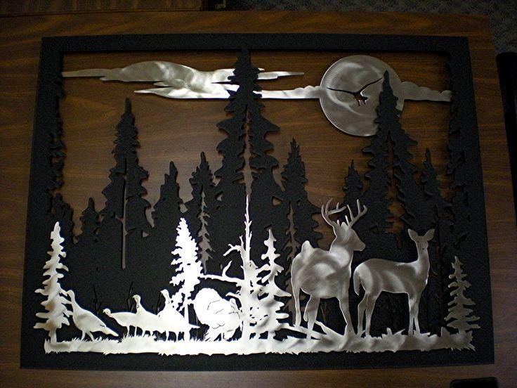 3d Wald Scherenschnitt Scherenschnitt Pinterest