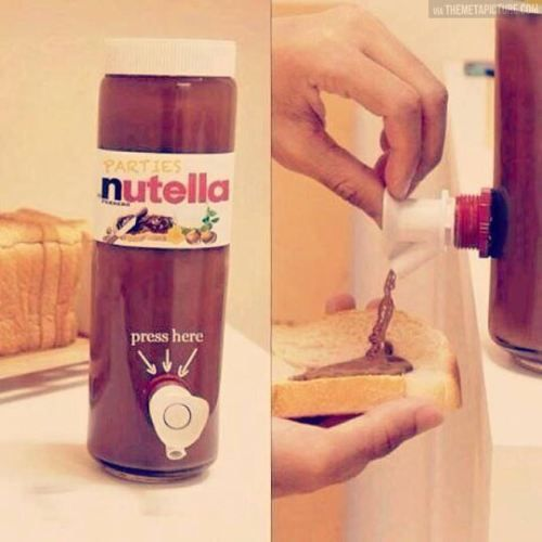 Nutella dispenser @Lisa Brown