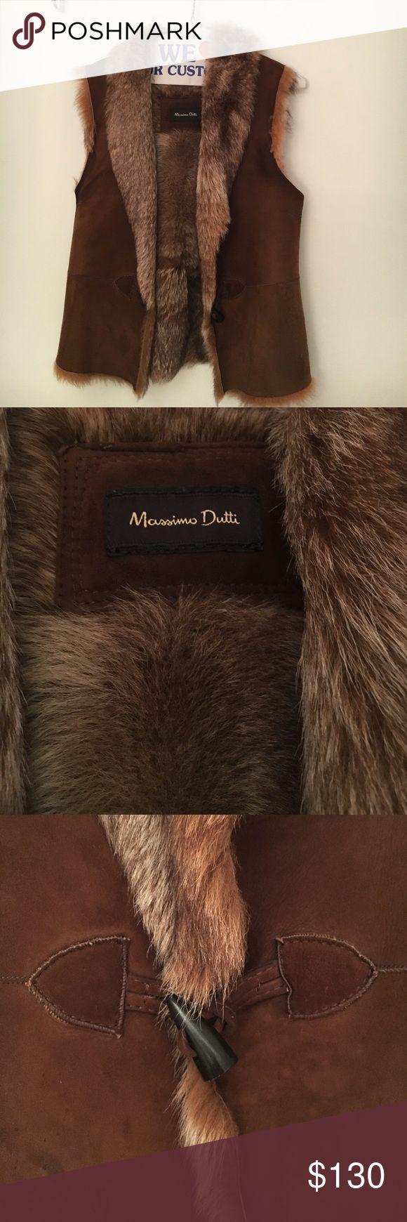 Brown fur vest. Sheep skin. Sz M. Massimo Dutti Brown fur vest. Sheep skin. Sz M. Massimo Dutti. Good condition. Massimo Dutti Jackets & Coats Vests