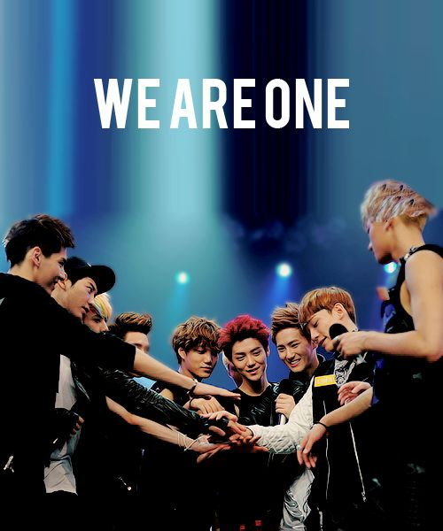 Exo ~ 12 members ~ 6 Korea EXO-K ~ 6 China EXO-M ~ We love you Luhan & Kris ~ OT12 Forever ~ EXO Fighting ~ Saranghaeyo! ~ EXO-L!