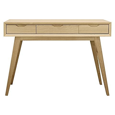 Marry minimalist and Scandinavian design with the natural finish of the practical Hepsiba Console Table, Oak from Calibre.