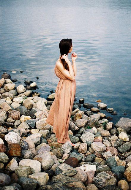 sobre piedras de mar
