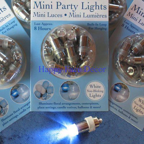 36 SUBMERSIBLE LED White Wedding PARTY LIGHTS Paper Lantern Balloon Centerpiece | eBay.