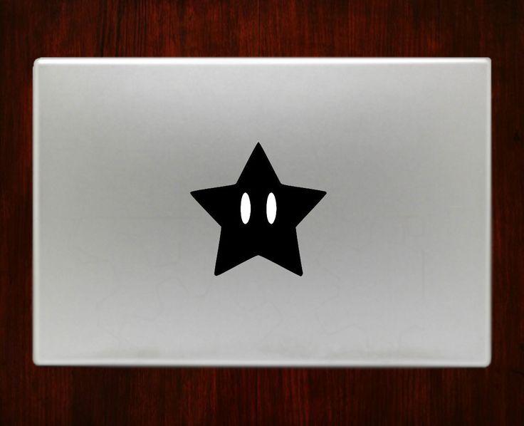 DecalOnTop.com - Super mario star Macbook Decal Stickers, $5.00 (https://www.decalontop.com/super-mario-star-decal-sticker-vinyl-for-macbook-pro-air/)