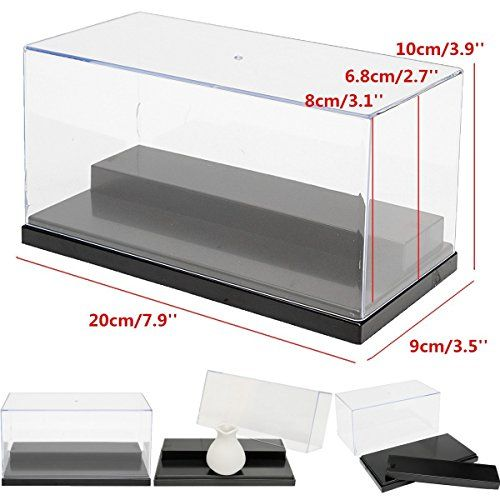 Discounted Acrylic Display case 7.9 x 3.9 x 3.5 inches For Action Figures Toy Vinylmation lot any minifigures Fuko Lego Model Rock stone Home Display
